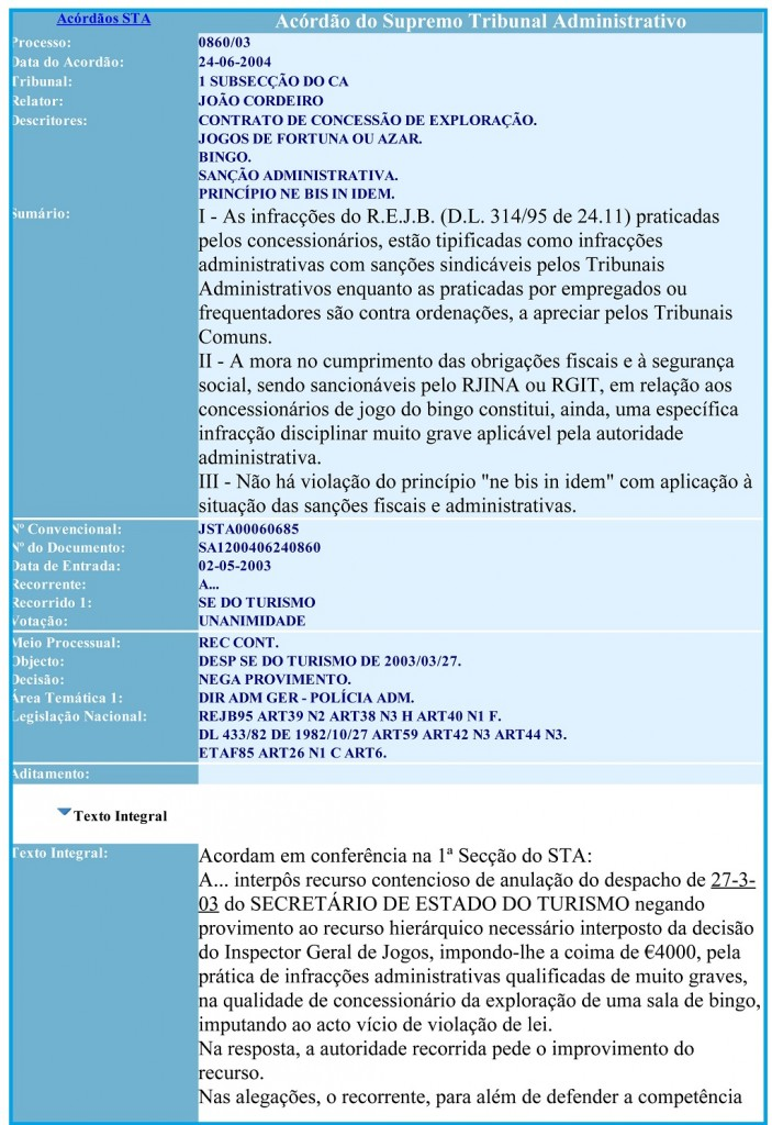 24-06-2004 Acordão do Supremo Tribunal Administrativo