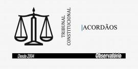 TRIBUNAL CONSTITUCIONAL - ACORDAOS
