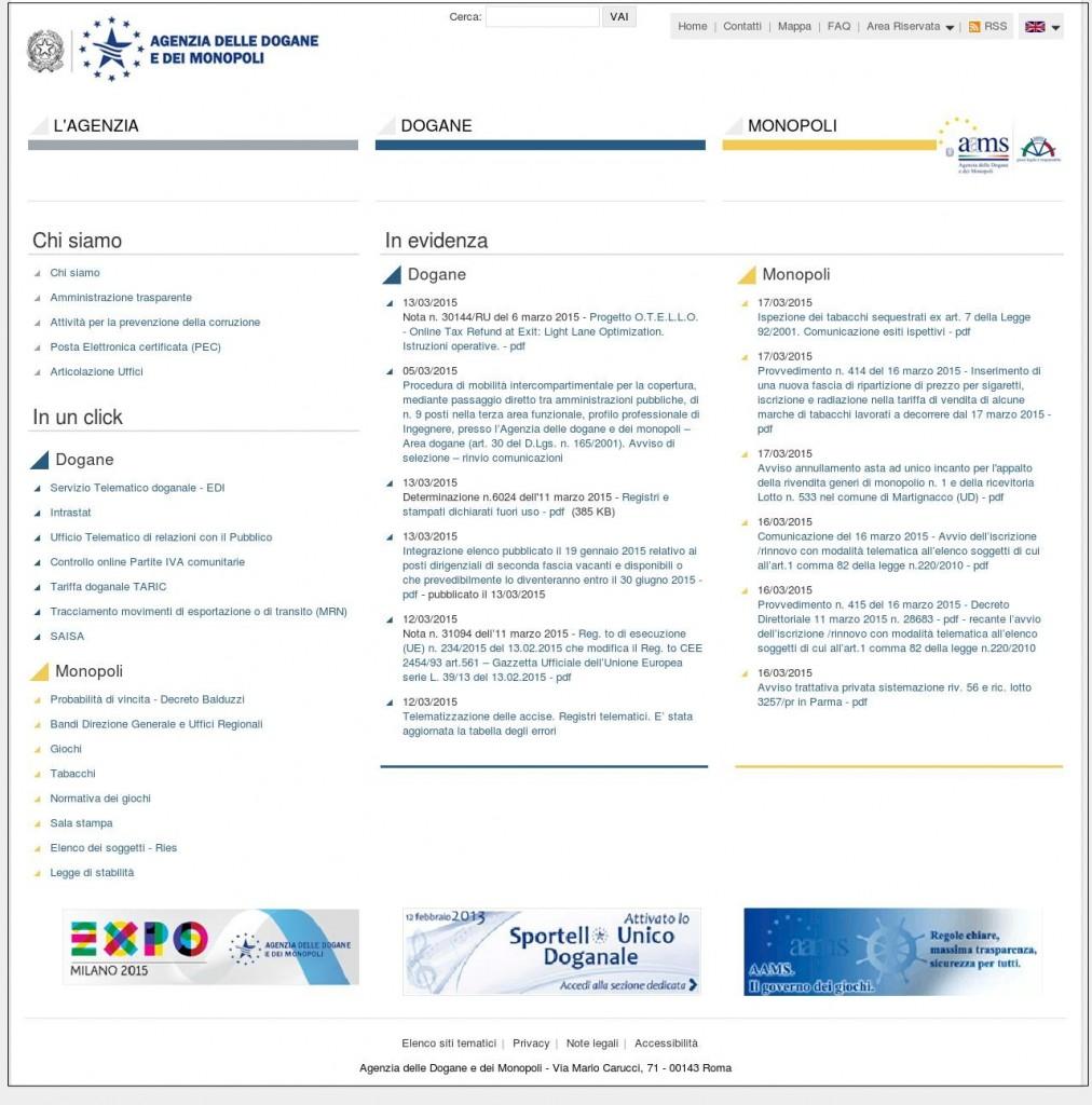 Amministrazione Autonoma dei Monopoli di Stato (AAMS)