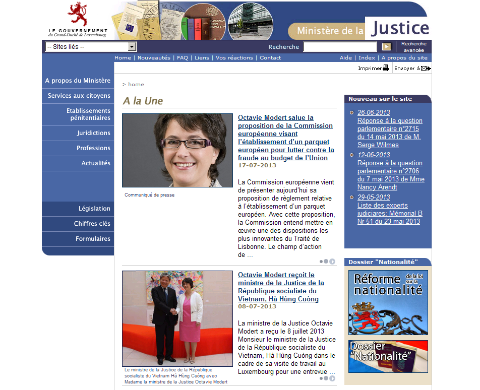 Luxemburg Ministry of Justice