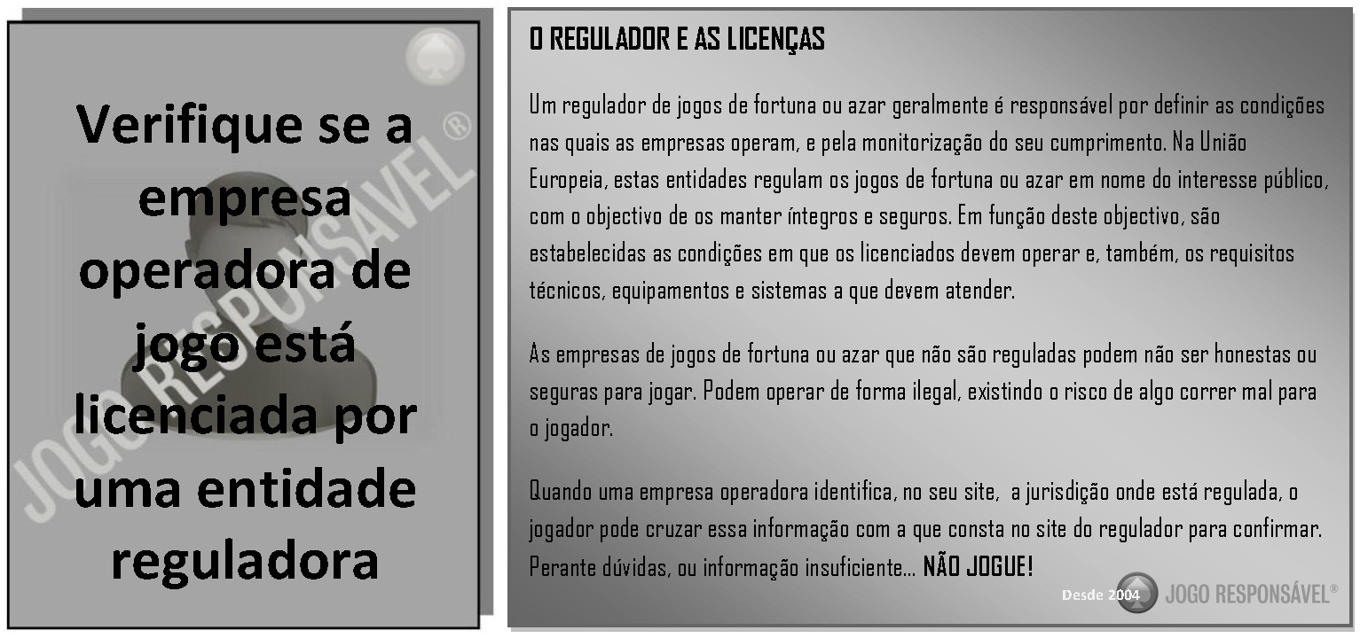 O REGULADOR E AS LICENÇAS
