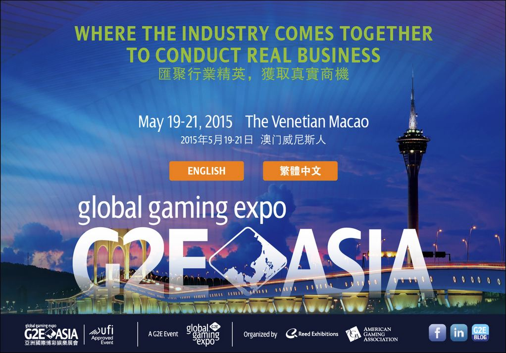 Global Gaming Expo Asia (G2E Asia) 2015