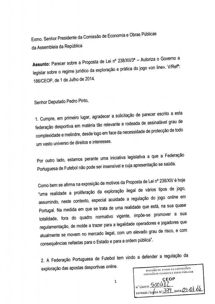 Parecer (CND) - FPF - Federação Portuguesa de Futebol