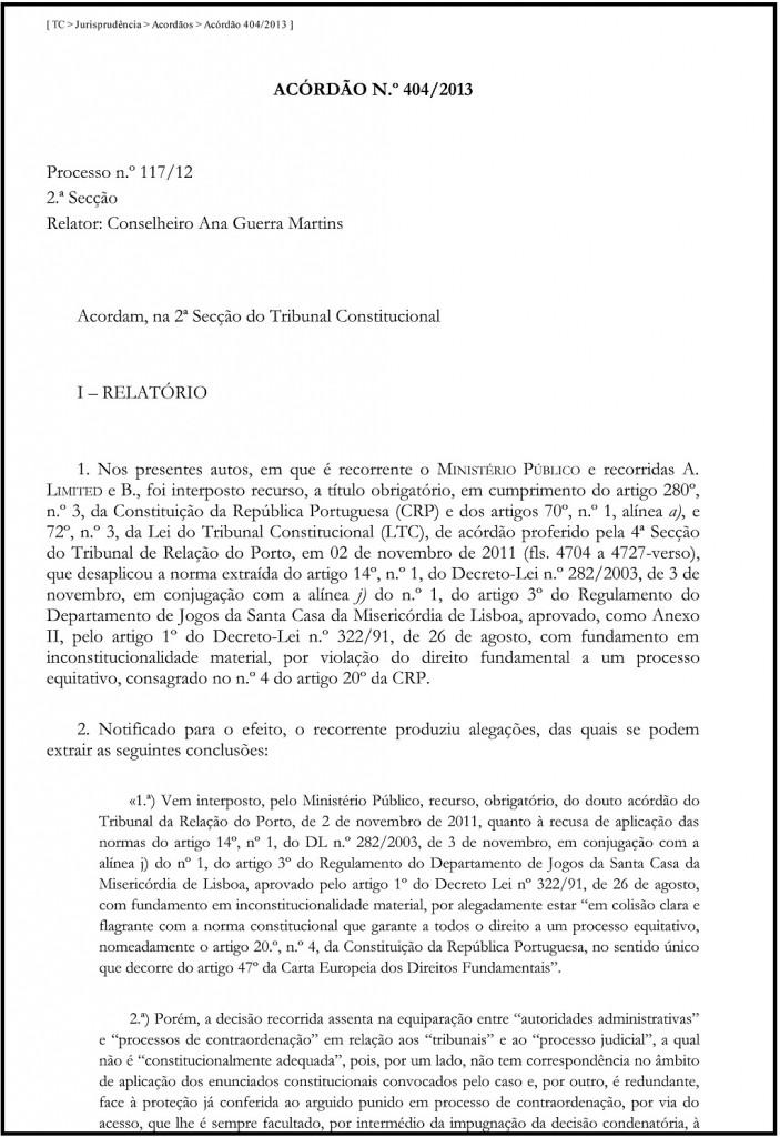 15-07-2013 - TC _ Jurisprudência _ Acordãos _ Acórdão 404_2013