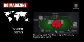 New Jersey report - PokerStars on top for April, steadily boosting i-poker market...